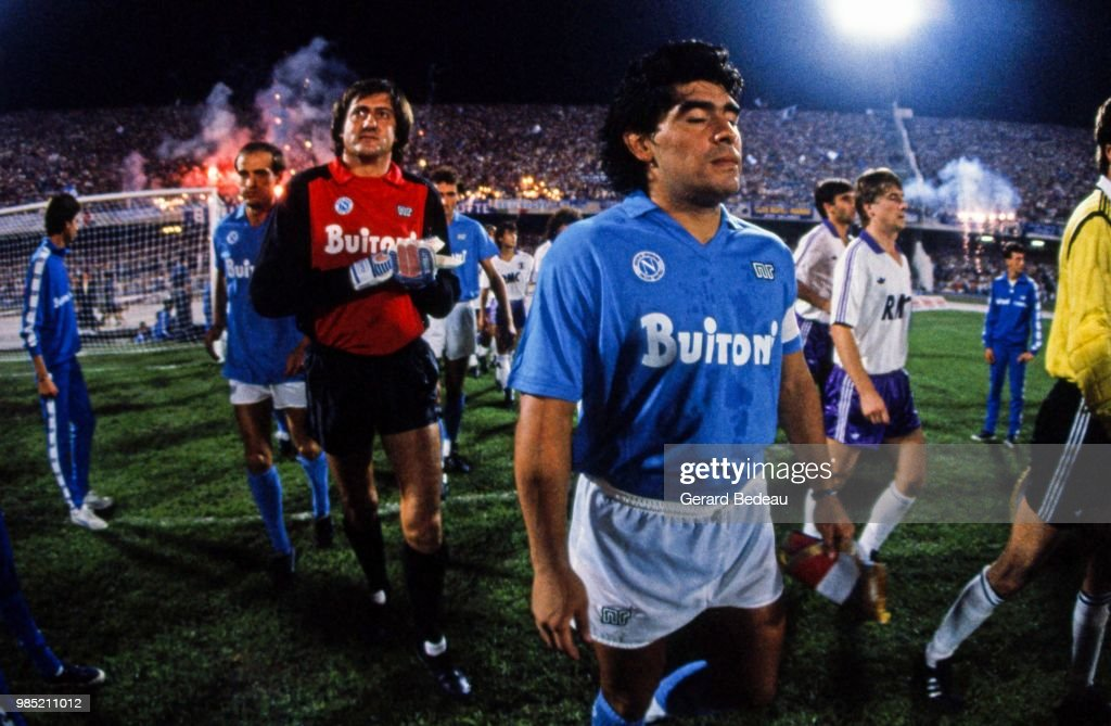 Diego Maradona Of Napoli During The Uefa Cup Match Between Napoli And News Photo Getty Images