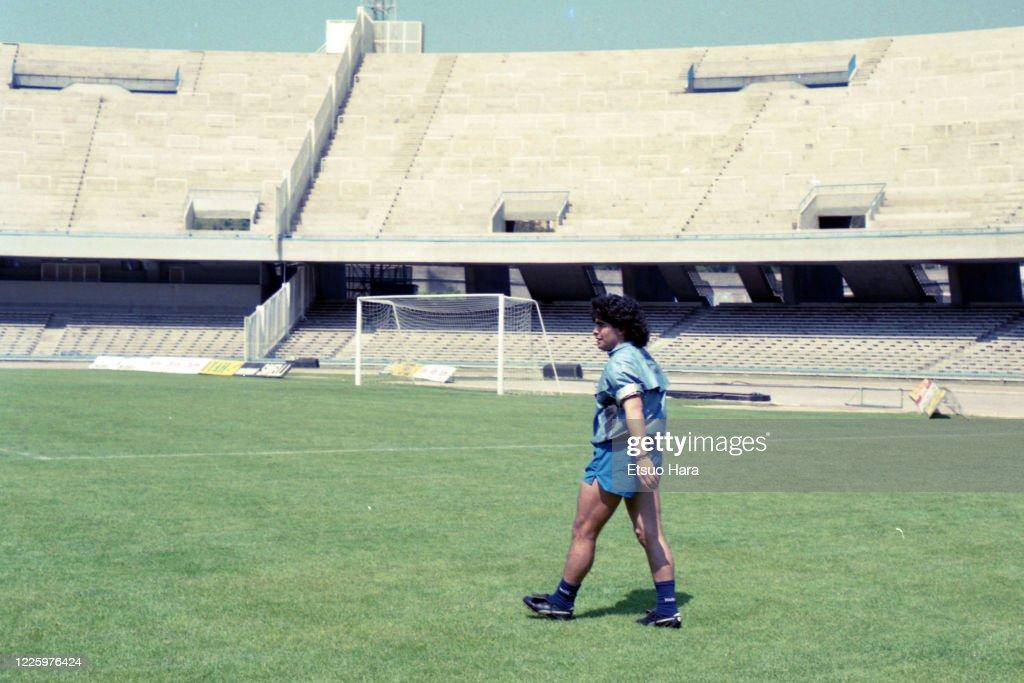 Diego Maradona Of Napoli : News Photo
