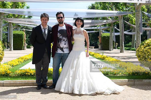 Diego Martin Director Paco Plaza and Leticia Dolera attend a photocall for 'Rec3 Genesis' on May 12 2011 in Barcelona Spain