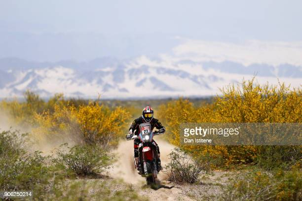 Diego Martin Duplessis of Argentina and MEC rides a Honda CRF 450 Rally in the Classe 21 Super Production during stage eleven of the 2018 Dakar Rally...