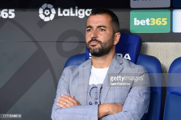 Diego Martinez Manager of Granada looks on prior to the La Liga match between RCD Espanyol and Granada CF at RCDE Stadium on September 01 2019 in...