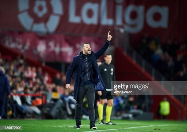 Diego Martinez of Granada CF reacts during the Liga match between Granada CF and Club Atletico de Madrid at on November 23, 2019 in Granada, Spain.