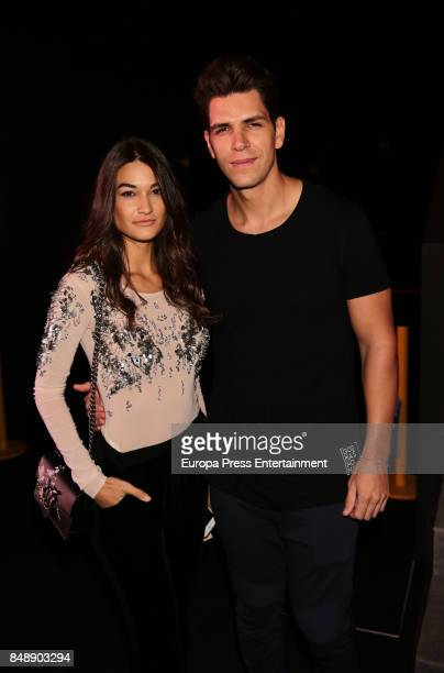 Diego Matamoros and Estela Grande are seen during MercedesBenz Fashion Week Madrid Spring/Summer 2018 at Ifema on September 15 2017 in Madrid Spain