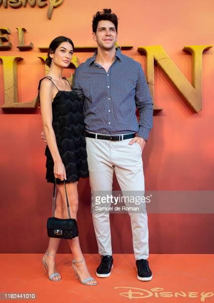 Diego Matamoros and Estela Grande attend El Rey Leon Madrid Premiere on July 16 2019 in Madrid Spain