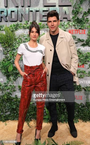 Diego Matamoros and Estela Grande attend 'Tripe Frontier' Madrid at Callao Cinema on March 05 2019 in Madrid Spain