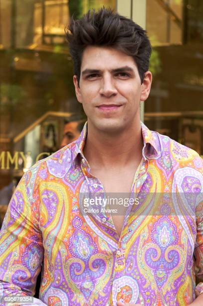 Diego Matamoros attends the Jimmy Choo Boutique reopening on June 13 2017 in Madrid Spain