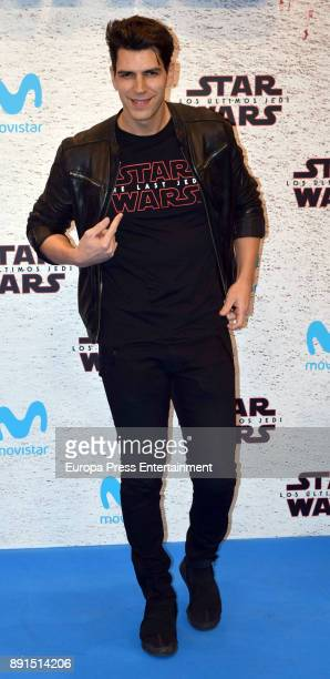 Diego Matamoros attends the 'Star Wars Los Ultimos Jedi' Madrid Premiere at Kinepolis Cinema at Kinepolis Cinema on December 12 2017 in Madrid Spain