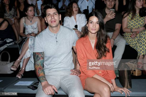 Diego Matamoros Estela Grande attends fashion show during the Mercedes Benz Fashion Week Autumn/Winter 20192020 on July 07 2019 in Madrid Spain