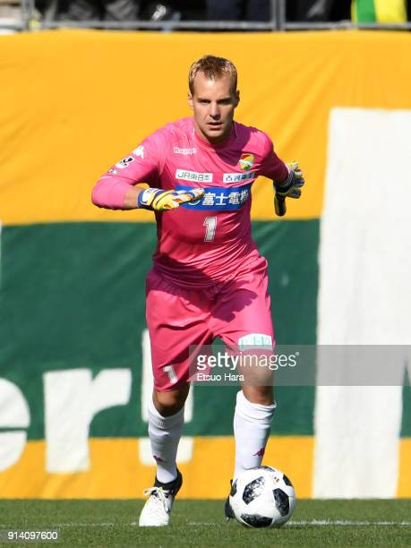 Diego Matias Rodriguez of JEF United Chiba in action during the preseason friendly match between JEF United Chiba and Kashiwa Reysol at Fukuda Denshi...