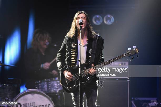 """Diego Navaira of The Last Bandoleros performs onstage during the Sting """"57th & 9th"""" World Tour at Hammerstein Ballroom on March 14, 2017 in New York..."""