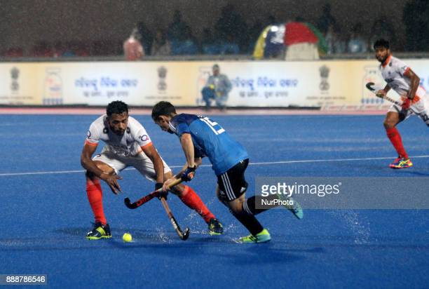 PAZ Diego of Argentina in action during the semi final round match of the Hockey World League Final 2017 between India and Argentina at the Kaling...