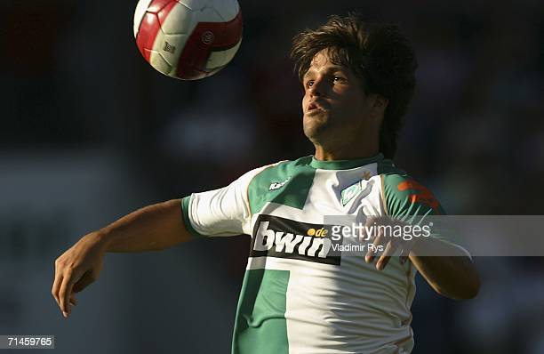 Diego of Bremen in action during the friendly match between Rot Weiss Essen and Werder Bremen at the GeorgMelches Stadium on July 16 2006 in Essen...