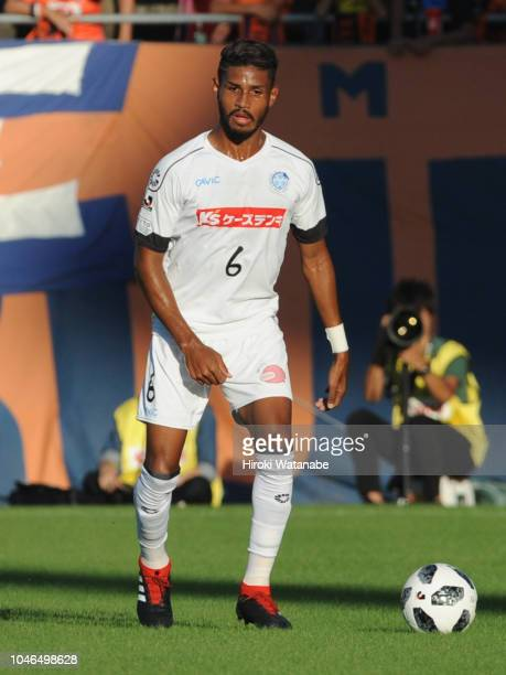Diego of Mito HollyHock in action during the JLeague J2 match between Omiya Ardija and Mito HollyHock at Nack 5 Stadium Omiya on October 6 2018 in...