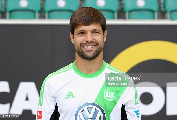 Diego of VfL Wolfsburg poses during the Bundesliga team presentation of VfL Wolfsburg at Volkswagen Arena on July 18 2013 in Wolfsburg Germany