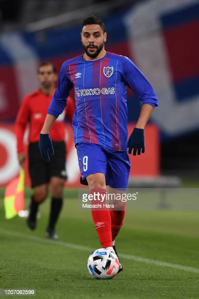 Diego Oliveira of FC Tokyo in action during the AFC Champions League Group F match between FC Tokyo and Perth Glory at Ajinomoto Stadium on February...