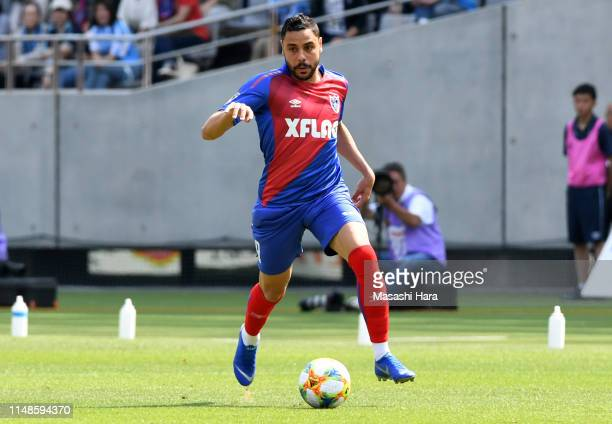 Diego Oliveira of FC Tokyo in action during the J.League J1 match between FC Tokyo and Jubilo Iwata at Ajinomoto Stadium on May 12, 2019 in Chofu,...
