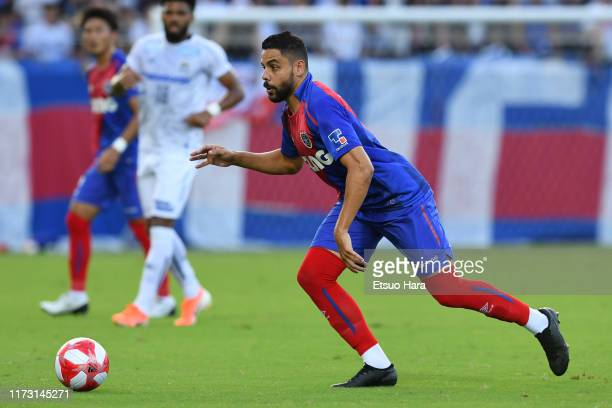 Diego Oliveira of FC Tokyo in action during the J.League Levain Cup quarter final second leg match between FC Tokyo and Gamba Osaka at NACK 5 Stadium...