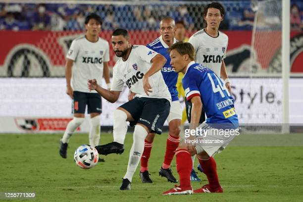 Diego Oliveira of FC Tokyo in action during the J.League Meiji Yasuda J1 match between Yokohama F.Marinos and FC Tokyo at Nissan Stadium on July 12,...