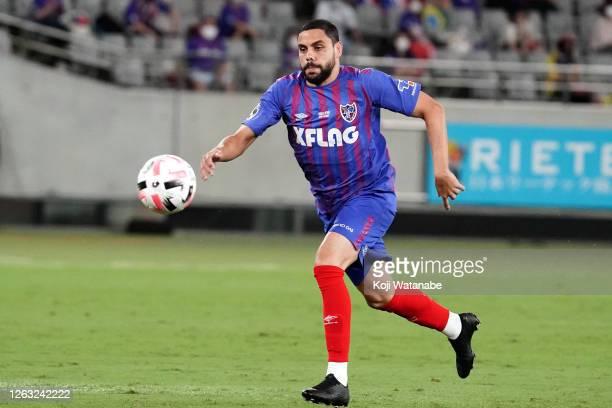 Diego Oliveira of FC Tokyo in action during the J.League Meiji Yasuda J1 match between FC Tokyo and Sagan Tosu at Ajinomoto Stadium on August 01,...