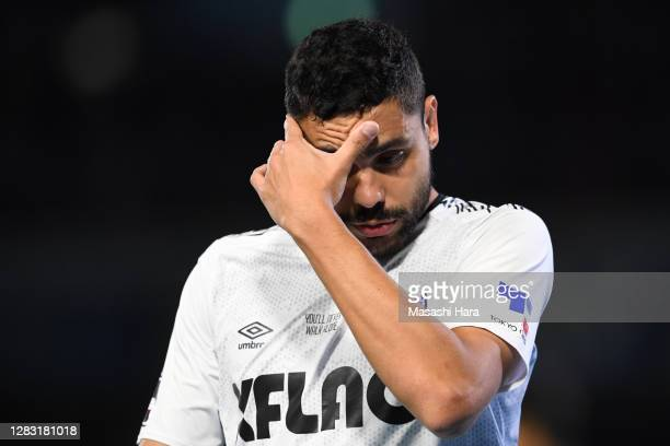 Diego Oliveira of FC Tokyo looks on during the J.League Meiji Yasuda J1 match between Kawasaki Frontale and FC Tokyo at the Todoroki Stadium on...