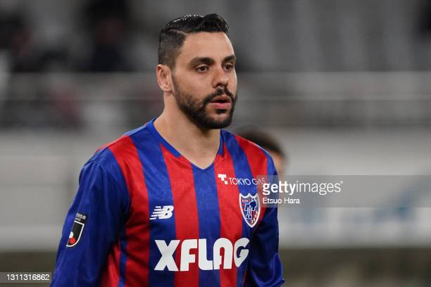 Diego Oliveira of FC Tokyo looks on during the J.League Meiji Yasuda J1 match between FC Tokyo and Consadole Sapporo at Ajinomoto Stadium on April...