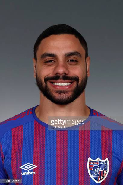 Diego Oliveira poses for photographs during the FC Tokyo portrait session on January 8, 2020 in Japan.