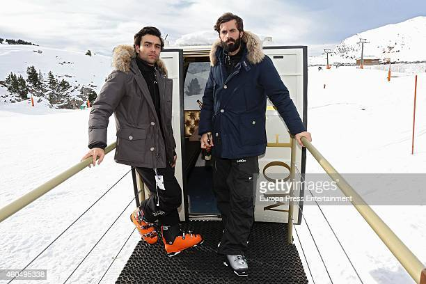 Diego Osorio and Enrique Solis attend Moet Winter Lounge In Baqueira ski resort on December 13 2014 in Baqueira Beret Spain