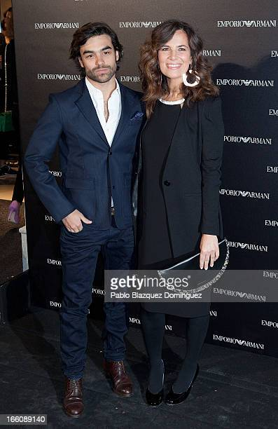 Diego Osorio and Roberta Armani attend Emporio Armani boutique opening on April 8 2013 in Madrid Spain