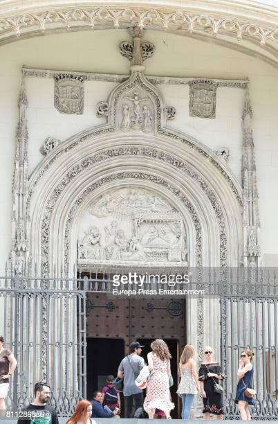 Diego Osorio and U2 singer Bono's daughter Jordan Joy Hewson are seen on June 3 2017 in Madrid Spain