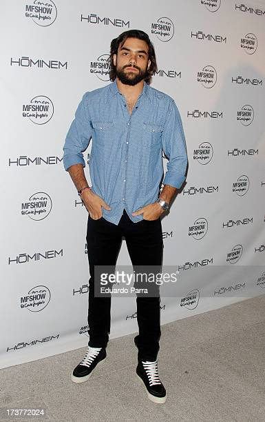 Diego Osorio attends Hominem new collection presentation photocall at Conde Duque space on July 17 2013 in Madrid Spain