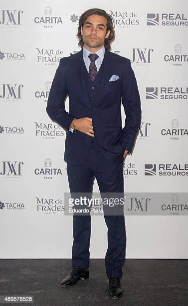 Diego Osorio attends Jorge Vazquez Fashion Show at French Ambassador's residence on September 22 2015 in Madrid Spain