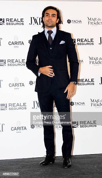 Diego Osorio attends Jorge Vazquez Fashion Show on September 22 2015 in Madrid Spain