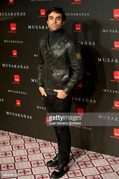 Diego Osorio attends the Musaranas premiere at the Capitol cinema on December 17 2014 in Madrid Spain
