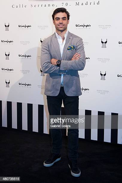Diego Osorio attends the Serrano Lingerie Cocktail Party at El Corte Ingles Serrano Store in Madrid on March 26 2014 in Madrid Spain