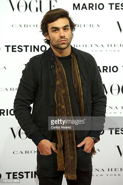 Diego Osorio attends the Vogue Mario Testino party at Fernan Nunez Palace on November 27 2012 in Madrid Spain