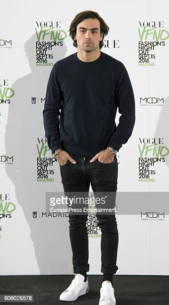 Diego Osorio attends Vogue Fashion Night Out Madrid 2016 photocall on September 15 2016 in Madrid Spain