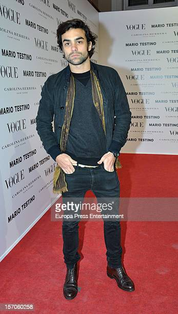 Diego Osorio attends Vogue Magazine December issue launch party at Fernan Nunez Palace on November 27 2012 in Madrid Spain