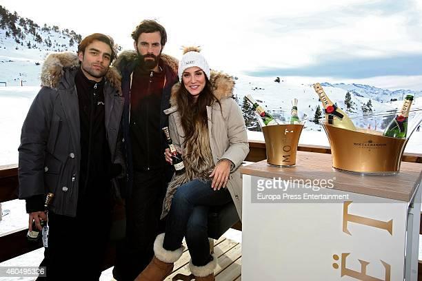 Diego Osorio Enrique Solis and Tamara Falco attend Moet Winter Lounge In Baqueira ski resort on December 13 2014 in Baqueira Beret Spain