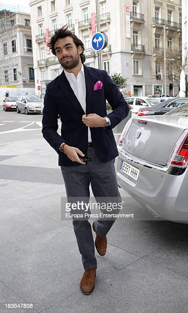 Diego Osorio is seen arriving at Glamour Awards at Palace Hotel on March 11 2013 in Madrid Spain