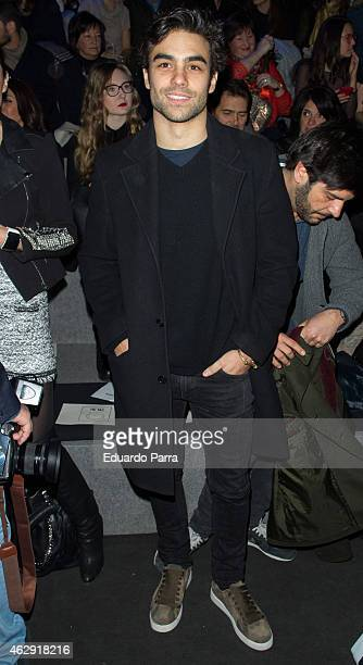 Diego Osorio is seen attending the catwalks during Madrid Fashion Week Fall/Winter 2015/16 at Ifema on February 7 2015 in Madrid Spain
