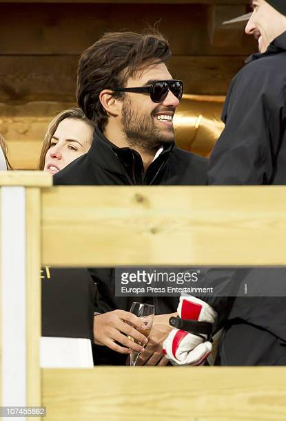 Diego Osorio is seen on holidays in Baqueira Beret on December 9 2010 in Baqueira Beret Spain
