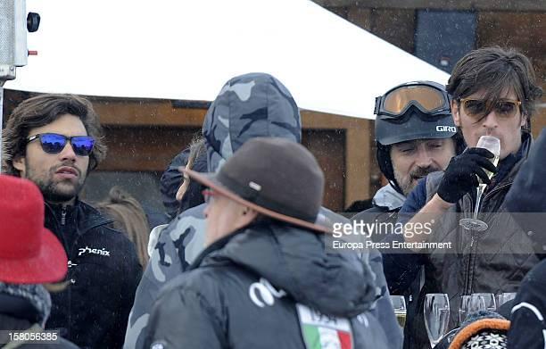 Diego Osorio Javier Soto and Luis Medina attend Moet Lounge In Baqueira ski resort on December 8 2012 in Baqueira Beret Spain
