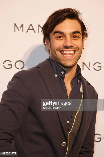 Diego Osorio poses during a photocall for the Mango Fashion show held at the Born Centre Cultural on January 27 2014 in Barcelona Spain