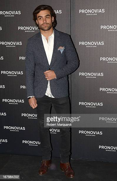 Diego Osorio poses for a photocall before the Pronovias bridal fashion show during Barcelona Bridal Week 2013 on May 3 2013 in Barcelona Spain