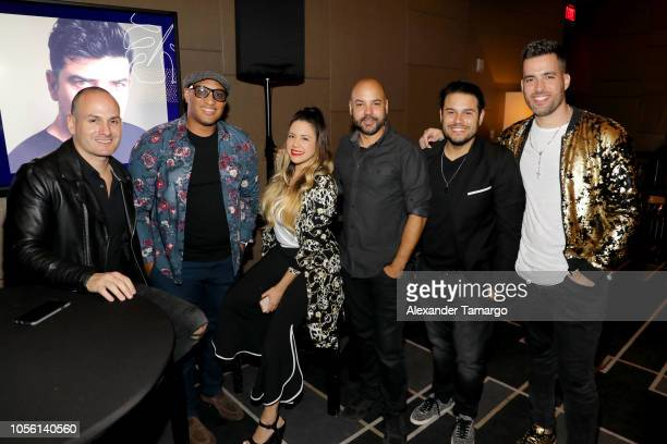 Diego Paredes Hilario Bell Maria Alejandra Gutierrez Hugo Fuguet Robert Molina and Armando Montiel attend Billboard 2018 Latin Power Players at W...