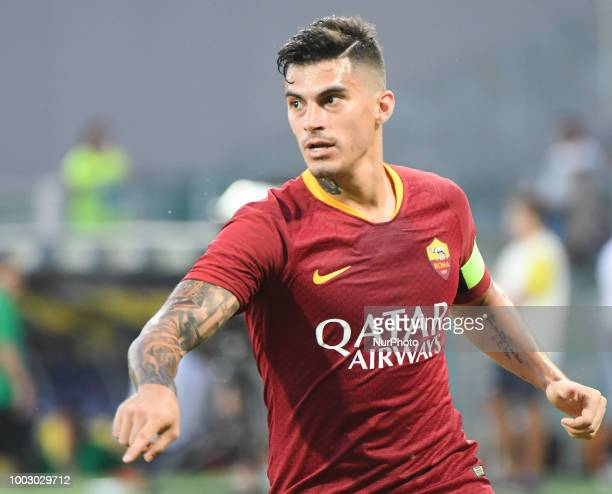 Diego Perotti during the PreSeason Friendly match between AS Roma and Avellino at Stadio Benito Stirpe on July 20 2018 in Frosinone Italy