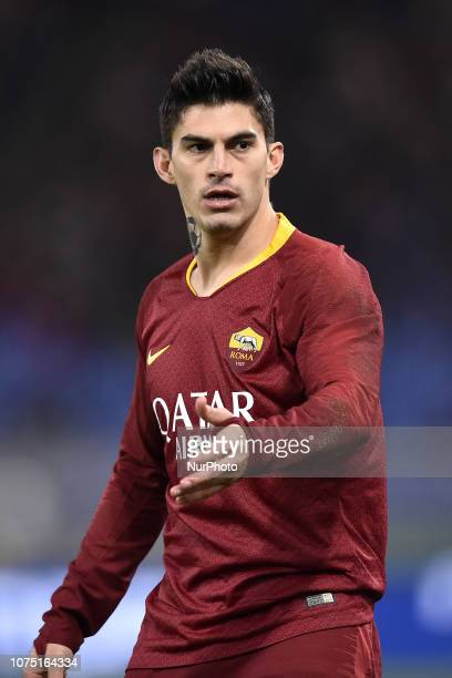 Diego Perotti of AS Roma during the Serie A match between Roma and Sassuolo at Stadio Olimpico Rome Italy on 26 December 2018