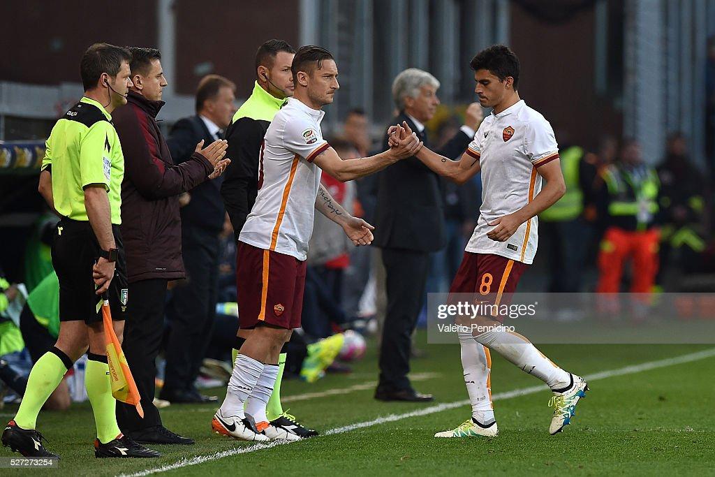 Genoa CFC v AS Roma - Serie A : News Photo