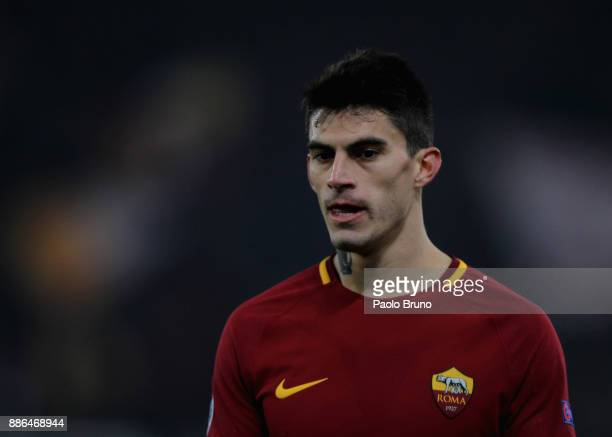 Diego Perotti of AS Roma looks on during the UEFA Champions League group C match between AS Roma and Qarabag FK at Stadio Olimpico on December 5 2017...