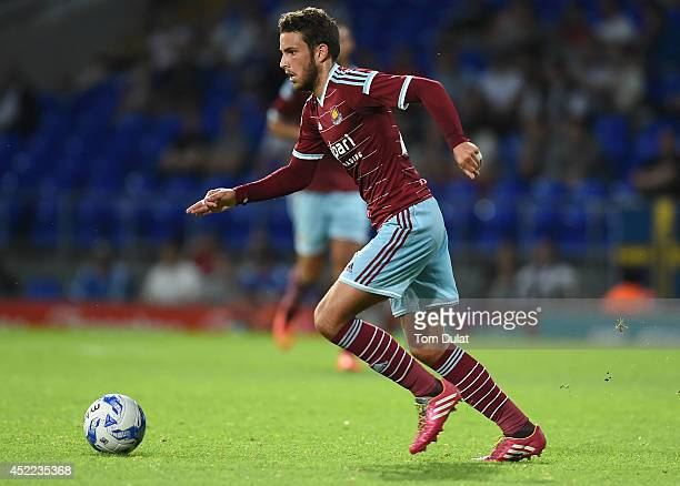 Diego Poyet of West Ham United in action during the preseason friendly match between Ipswich Town and West Ham United at Portman Road on July 16 2014...